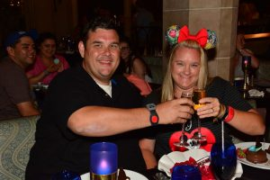 A proposal in the Cinderella Castle. She said yes!